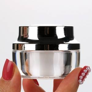 15g Double Wall Acrylic Round Plastic Nail Polish Jars Wholesale Custom Logo Cream Containers