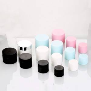 OEM 5g 15g 20g 30g 50g Facial Cream Plastic Jar Black Blue Pink White Sugar Scrub Container Body Face Lip Scrub Containers
