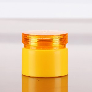 5g yellow empty high quality beauty plastic cylinder uv gel container cosmetic packing bottle for nail polish