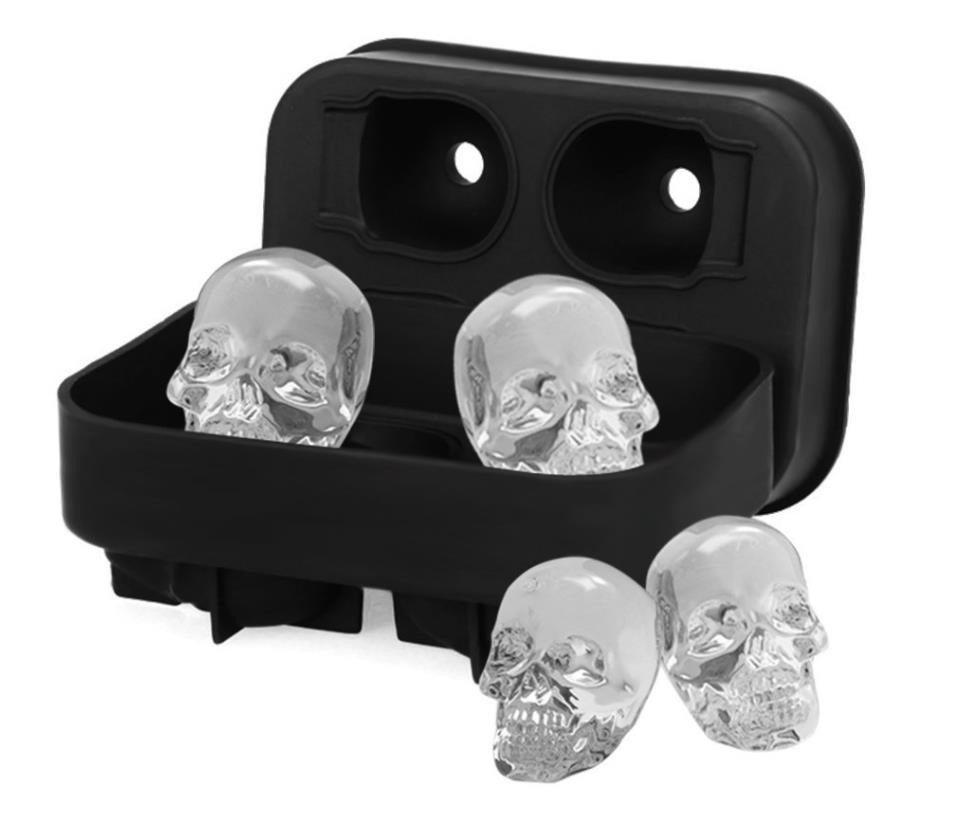 Fashion style ice cube tray FDA silicone ice molds skull ice mold