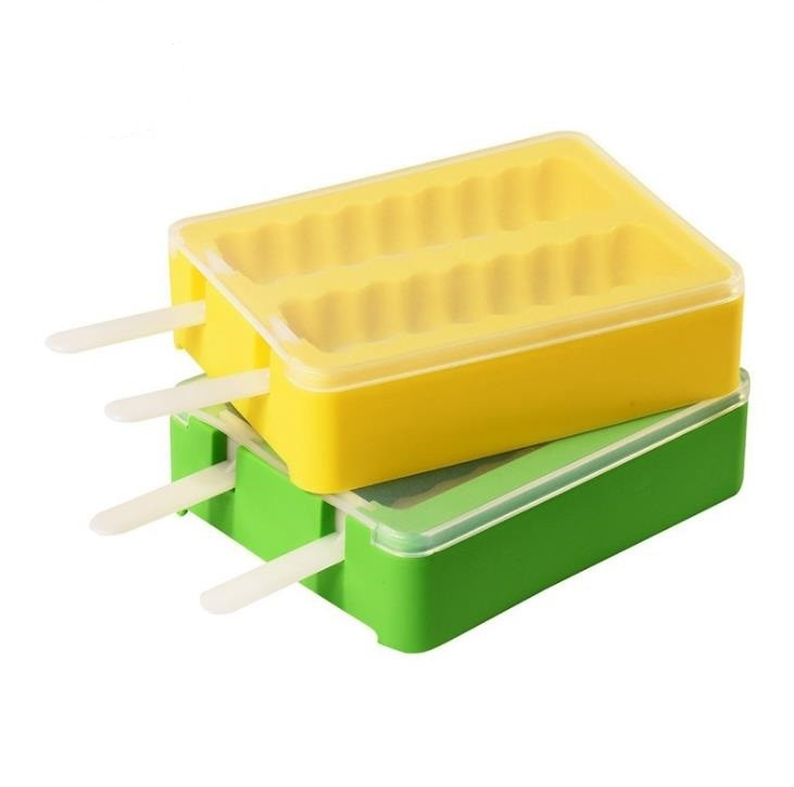Summer Popsicle Silicone Ice Block Moulds , Stackable Ice Cube Trays PP Material