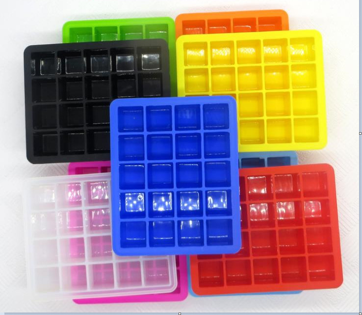Commercial Closed Fancy Ice Cube Trays Compact With Lid Healthy High Capacity