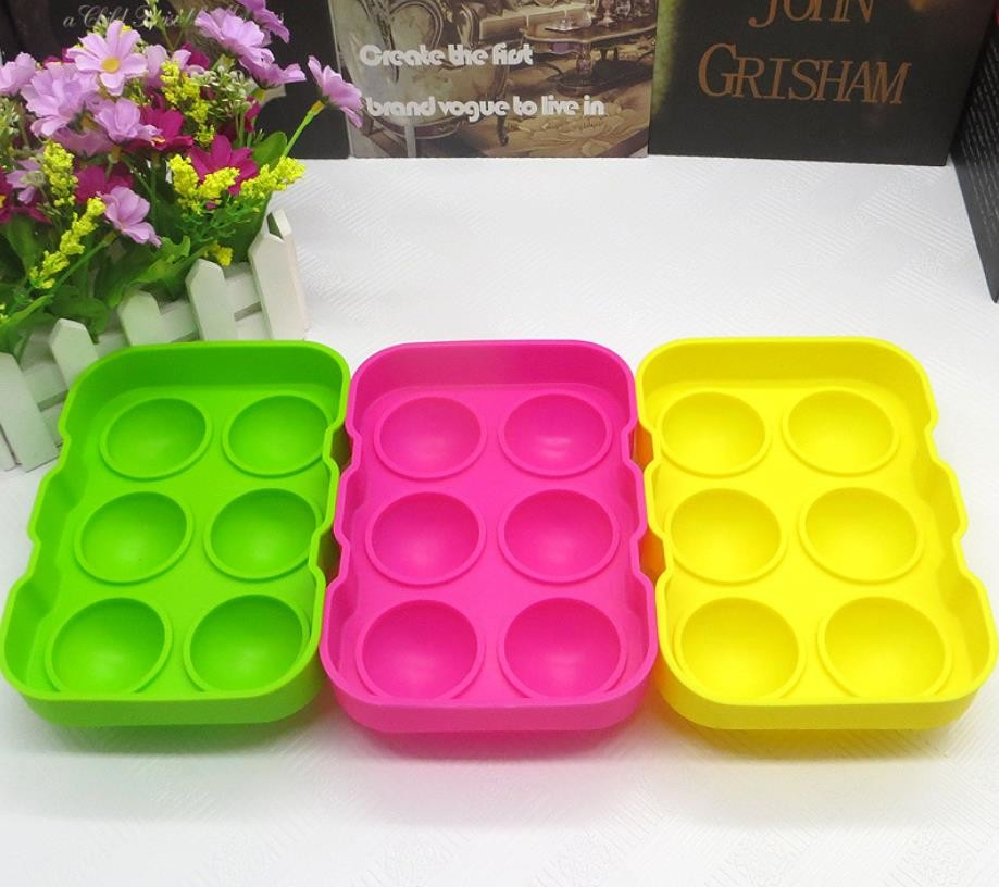 Colorfull Silicone Ice Ball Molds , Silicone Ice Ball Maker FDA 18*12.5*4.8cm