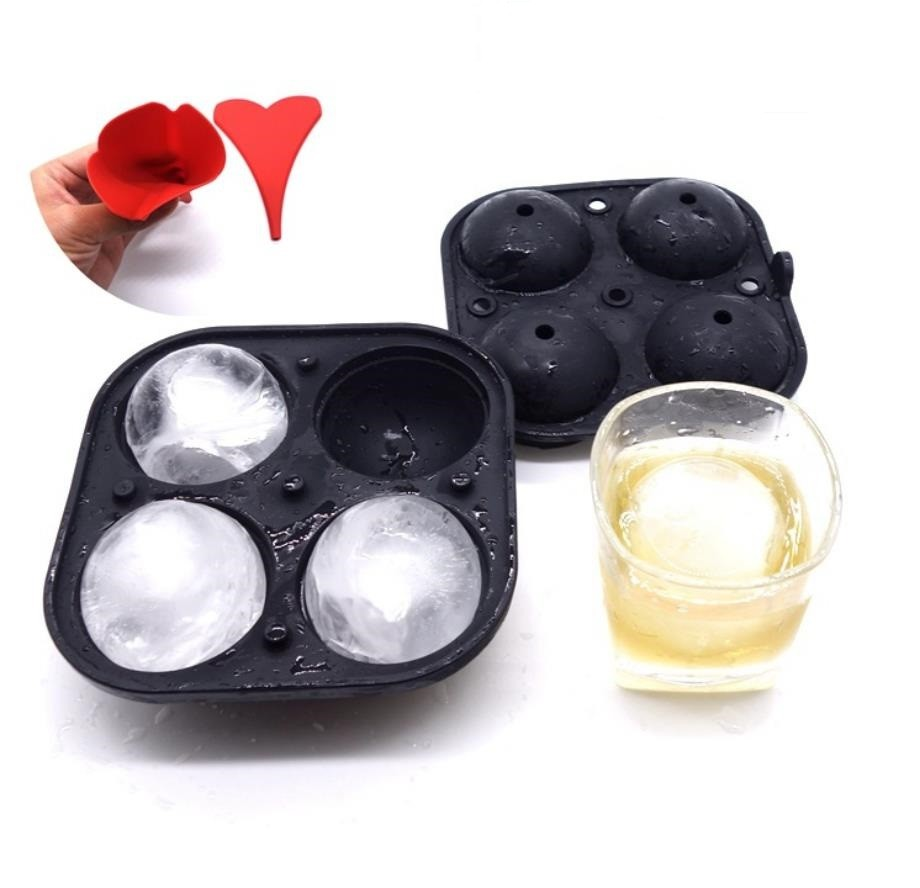 Mini Diy Silicone Ice Ball Molds Set Round Shape 5.6CM Diameter For Drinks