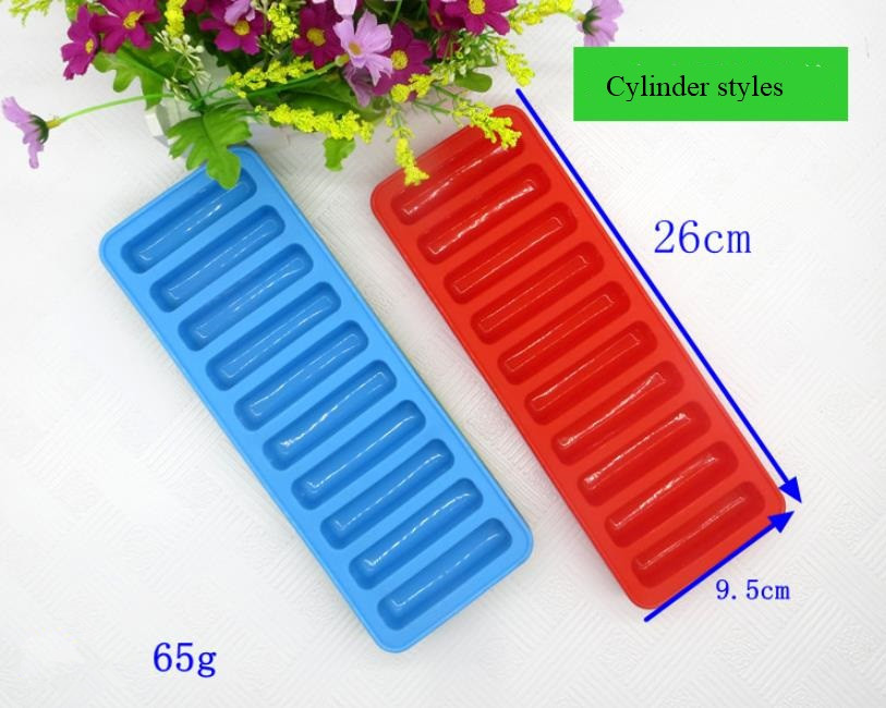 Bar High Temperature Silicone Molds , Non Stick Ice Cube Trays Cylinder Shape