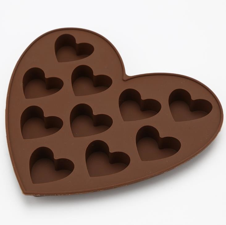 FDA  Heart Shaped Custom Made Chocolate Molds  -40~230°C Temperature Range