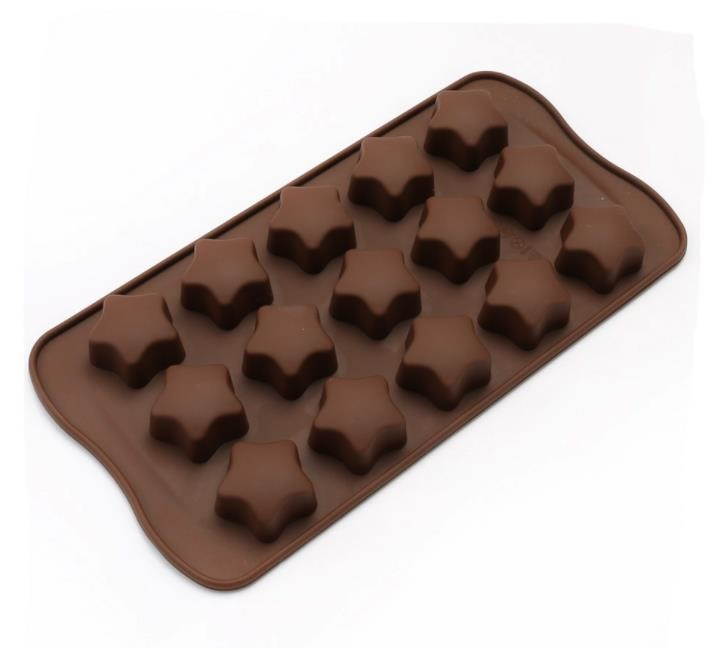 Flexible Star Shaped Silicone Chocolate Molds Space Saving 21*10.7*1.5cm