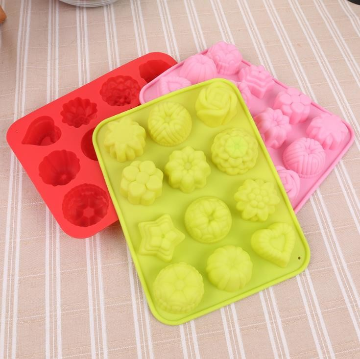 Flower Cocktail Silicone Ice Cube Molds 87g Lightweight Decorative