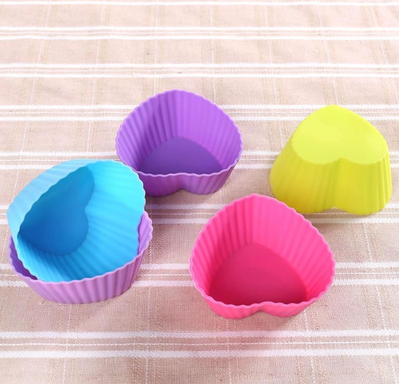 Colorful Muffin Silicone Muffin Cups Tray Anti Bacteria 6.8*5*3cm Featured Image