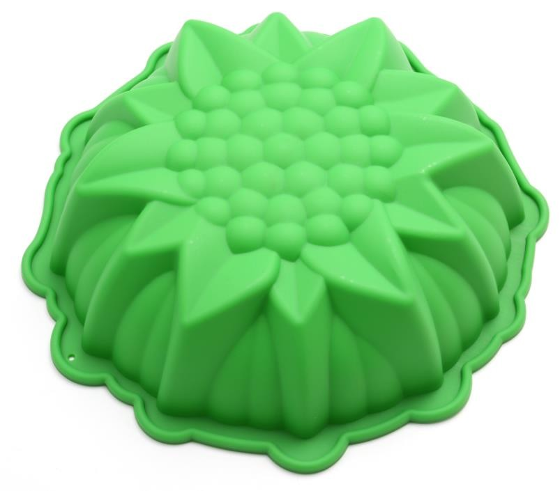 Bakeware Silicone Cupcake Liners Three Dimensional DIY 8 Inch Green Color
