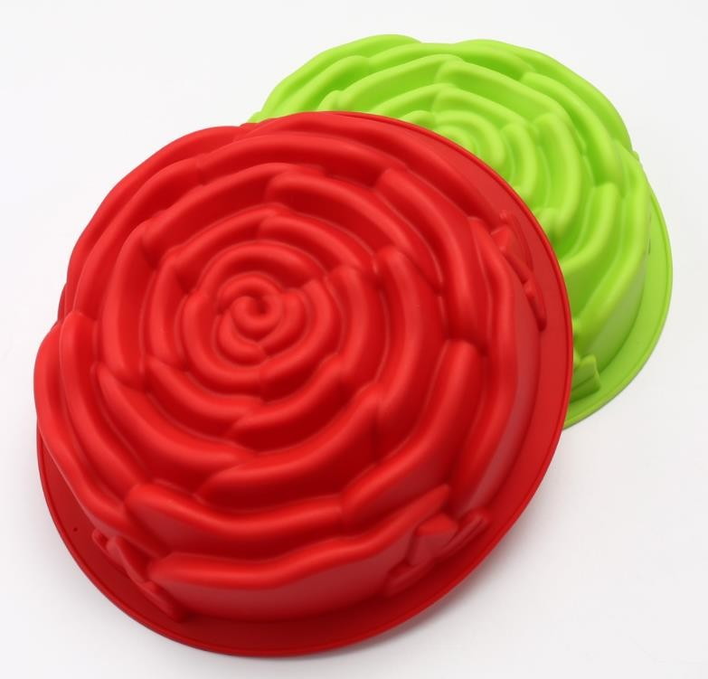 Large Size Silicone Baking Molds Rose Flower Customized Color Featured Image