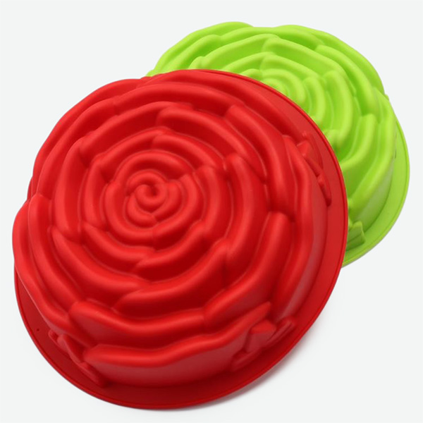 Large Size Silicone Baking Molds Rose Flower Customized Color