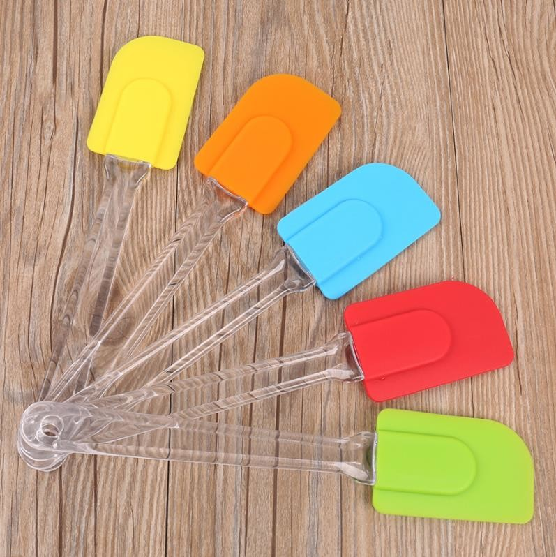 Angled Small Cookie Silicone Spoon Spatula Cooking Tool Practical