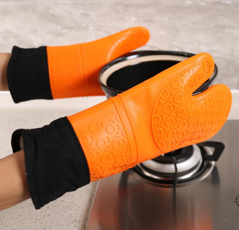 Professional Microwave Oven  Silicone Kitchen Gloves Pair Lightweigtht