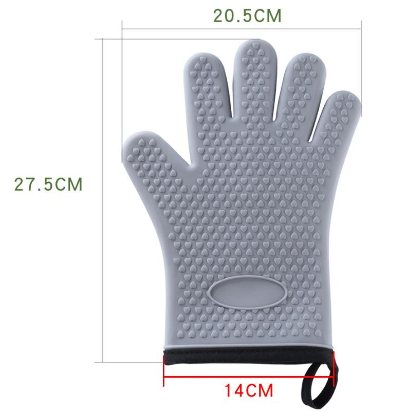 Bakery Silicone Bbq Gloves , Flexible Silicone Rubber Gloves For Grilling