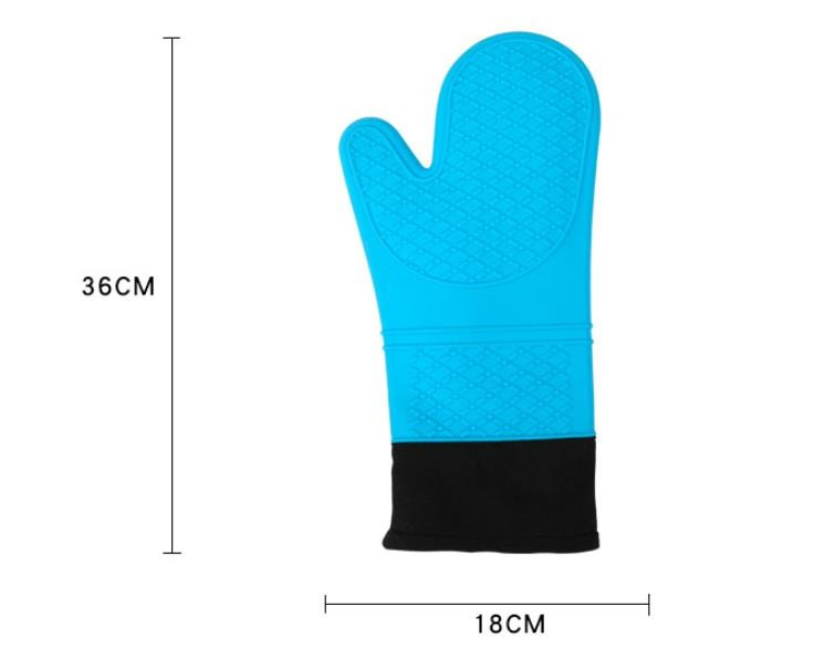 Waterproof Silicone Hand Gloves Cotton Inside Heat Insulation Hand Protection