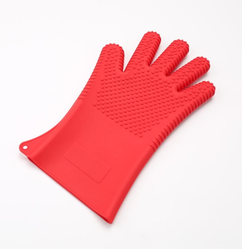 Large Size Silicone Hand Gloves FDA Five Finger Styles Design For Cooking