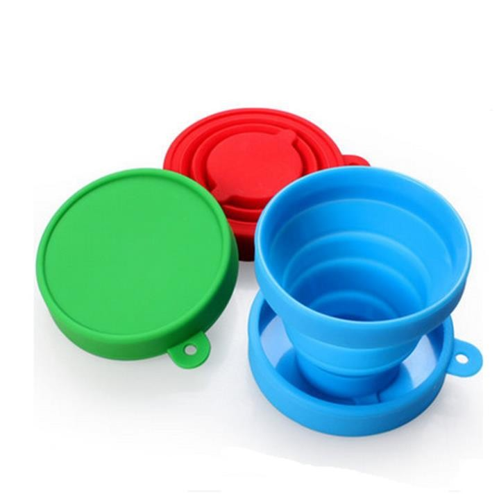 190ML style BPA Free Food Grade Collapsible Silicone Folding cup