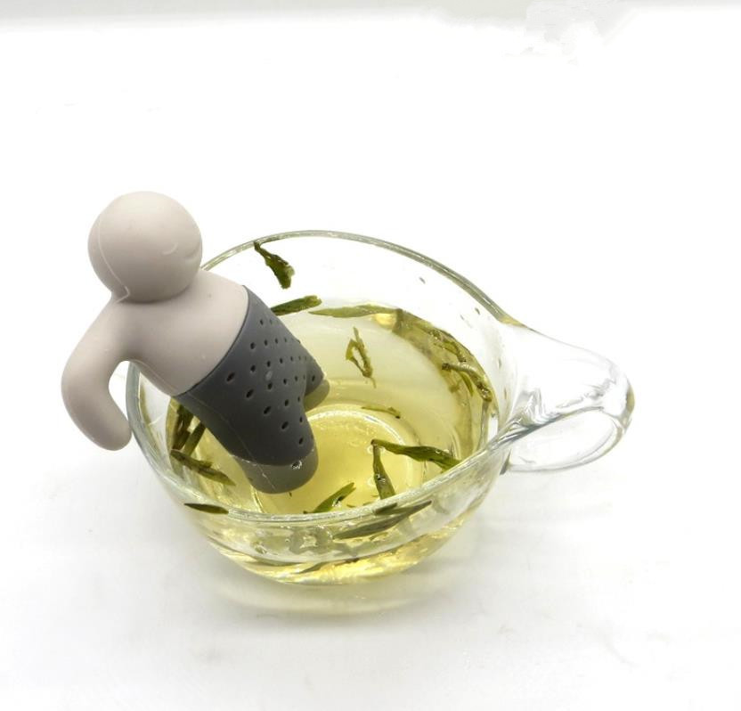BPA Free Mr Tea FDA standard Silicone Tea infuser Man with box package available