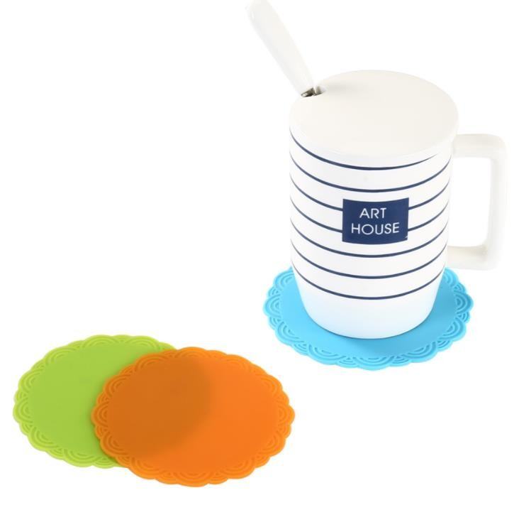 OEM ODM Colorful Silicone Kitchen Utensil Set Round Shape Anti Slip