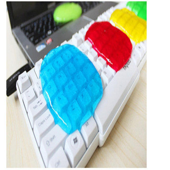17.5*12cm Colorful Super Clean Slimy Gel Magic Keyboard Cleaning Compound