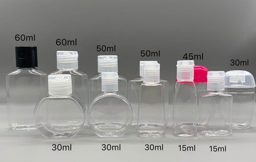 Fast Shipping Empty Pet Bottles , Mini Hand Sanitizer Bottles For 15~60ML