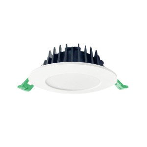 90mm Cut-out Aluminum Coated Plastic Tri-colour Slim Downlight with Flat Fascia