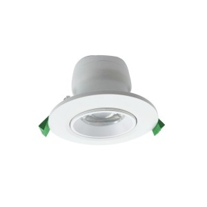 90mm cut-out Plastic Cover Aluminum adjustable Downlight with Lens