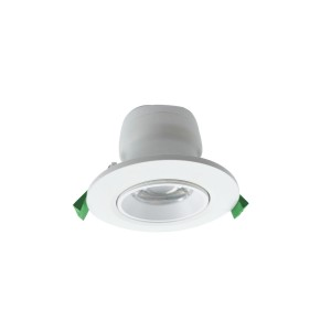 70mm cut-out Plastic Cover Aluminum adjustable Downlight with Lens