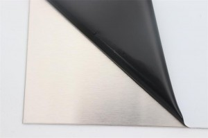 Polished stainless steel plate
