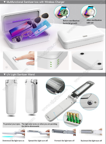Multi-functional Wireless Charging Disinfection Box & UV Disinfection Lamp