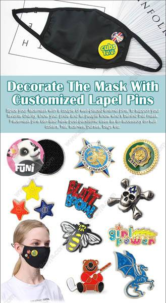 Decorate The Mask With Customized Lapel Pins