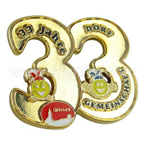 Number and Letter Lapel Pins