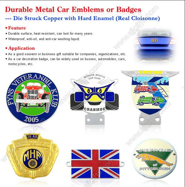 Metal Car Emblems or Badges