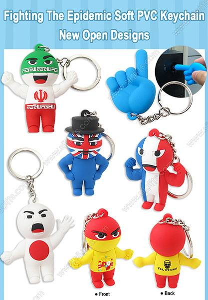 Fighting The Epidemic Soft PVC Keychains