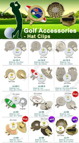 Golf Hat Clip With Ball Marker