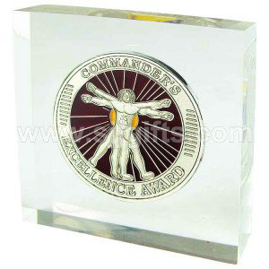 Paper Weight with Coin Embed
