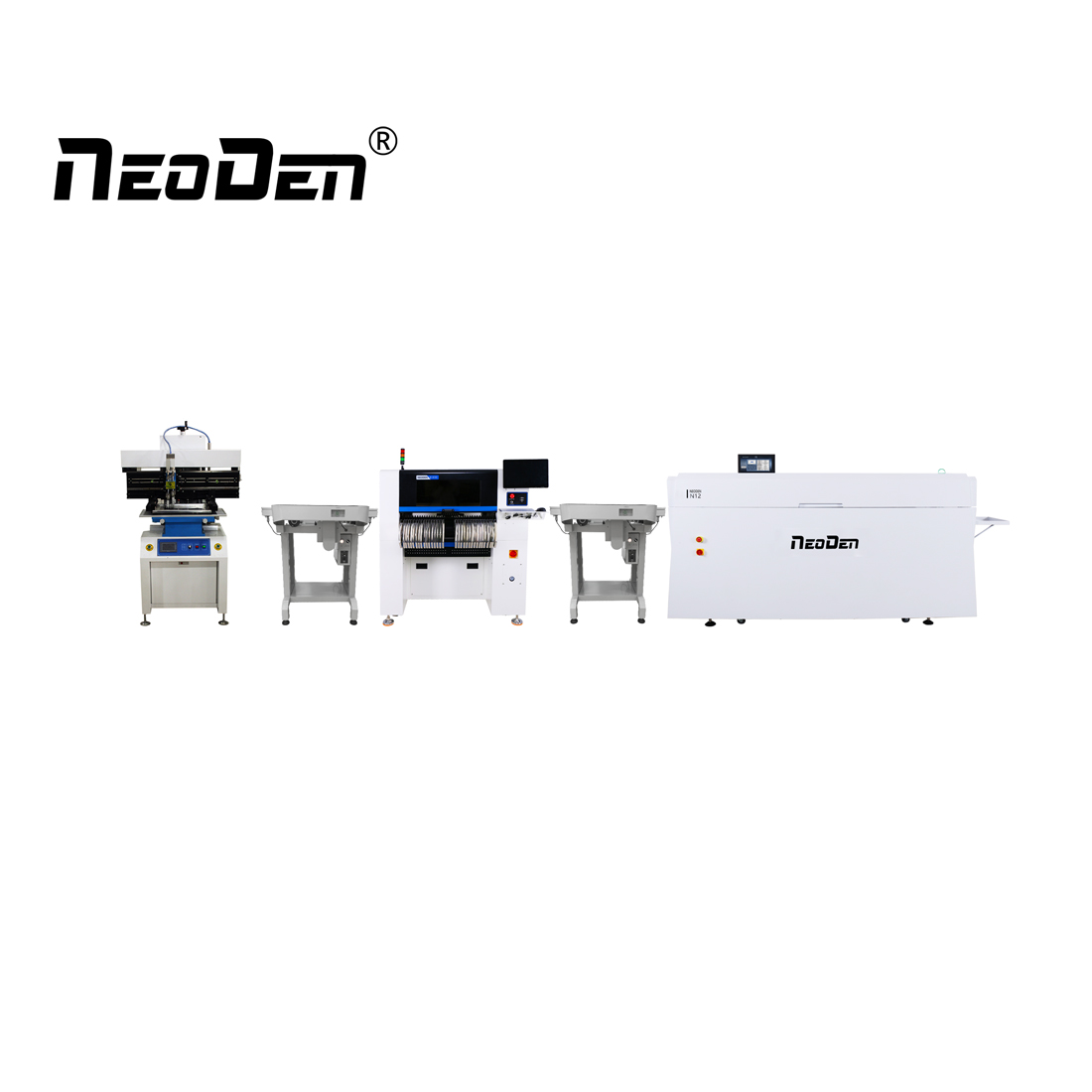 NeoDen High Speed Production Line for LED PCBA Manufacturing