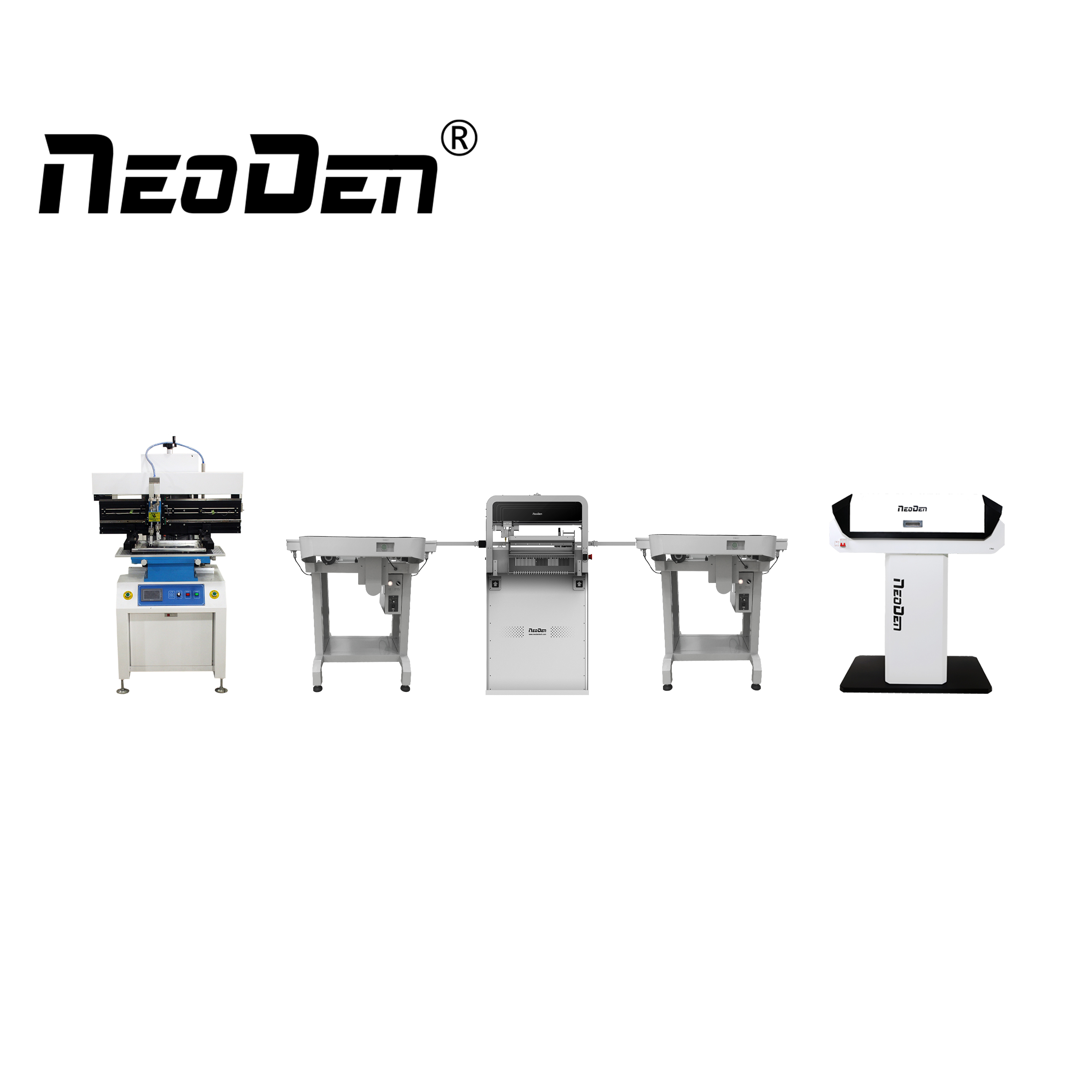 NeoDen high precision production line for LED PCBA manufacturing
