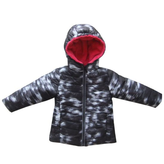 Kids Padded Coat Winter Cotton Jacket with Hooded Outdoor Apparel