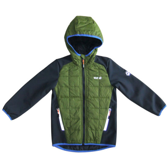Hot Selling Children Jacket with Hood with Refective Zipper