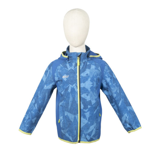 Wholesale Outdoor Apparel Mountain Softshell Jacket Camping Jacket Kids
