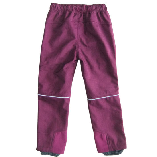 Children Clothing Outdoor Warm Apparel Boy Soft Shell Pants