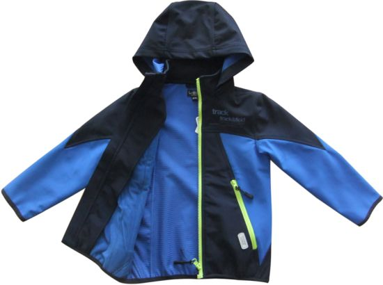 Well Rise Girls Fleece Line Hoodies OEM High Perform Autumn Black Kid Waterproof Windproof High Quality Softshell Jacket