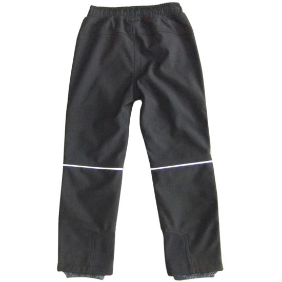 Child Outdoor Warm Trousers Boy Girl Fleece Lined Pants