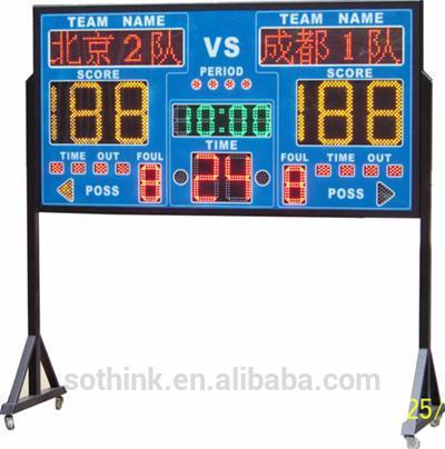 cheap high quality super bright red outdoor LED mini electronic scoreboard