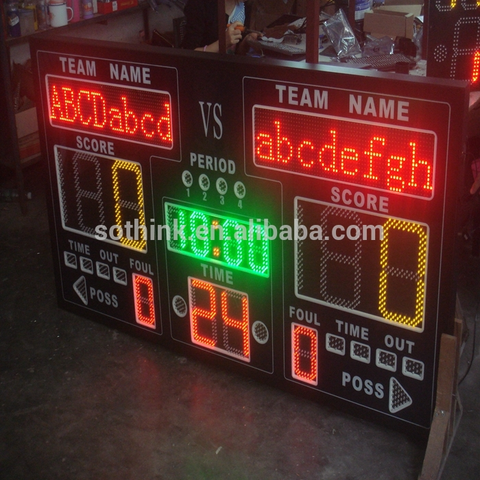 2016 hot sales outdoor sports stadium LED display with shot clock