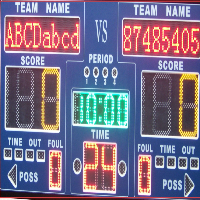 outdoor digital stadium LED electronic scoreboard with shot clock