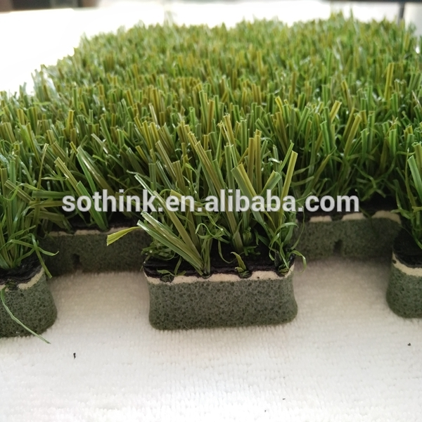 high quality Skid Resistance Multifunction interlocking artificial grass tile