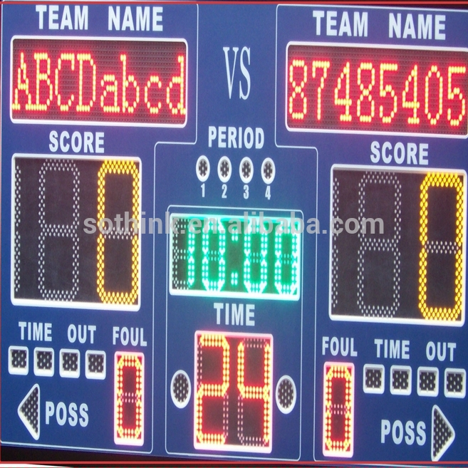 Outdoor LED dart score board for basketball